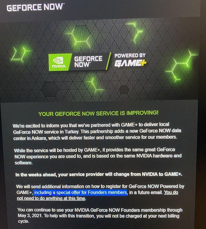 GeForce Now global hesaplar